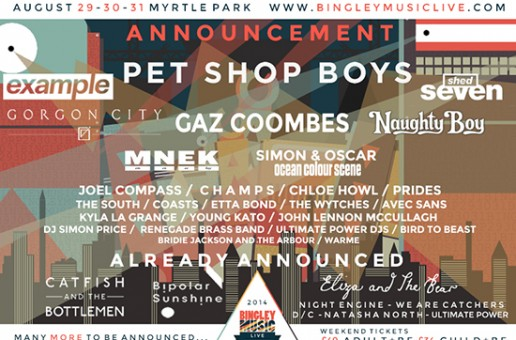 Pet Shop Boys to headline Bingley Music Live 2014!