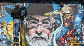 Terry Pratchett street art tribute is a work in progress